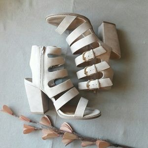 Strappy Buckle High Heel Sandals